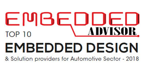 TOP 10 Embedded Design and Solution Providers for Automotive Sector - 2018